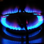 Gas ring alight